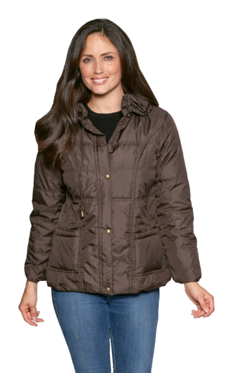 db22 Womens Lightweight Padded Brown Jacket